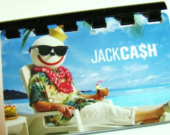 Jack in the Box Giftcard Notebook     ----  No Cash Value on Card