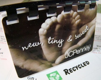 New Tiny Sweet Baby Feet Giftcard Notebook    ---   No Cash Value on Card
