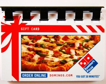 Dominos Pizza Giftcard Notebook  ----  No Value on Card -- Novelty Purposes Only