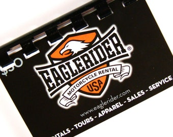EagleRider Upcycled Giftcard Notebook  --  No Value on Card