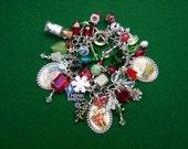 Sledding Fun Christmas Charm Bracelet