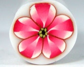 Polymer Clay Pink Flower Cane 177 by Seana