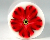 Polymer Clay Red Flower Cane 178 by Seana