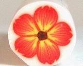 Polymer Clay Orange Flower Cane 174 by Seana