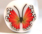 Polymer Clay Orange Butterfly Cane B44 by Seana