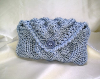 Knit Cell Phone Purse with Strap ~ Smartphone Cozy Case