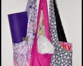 sakura (oversized reversible cross body hobo bucket bag)