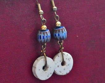 Antique African Chevron Earrings