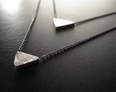 Double Tri Necklace - Silver