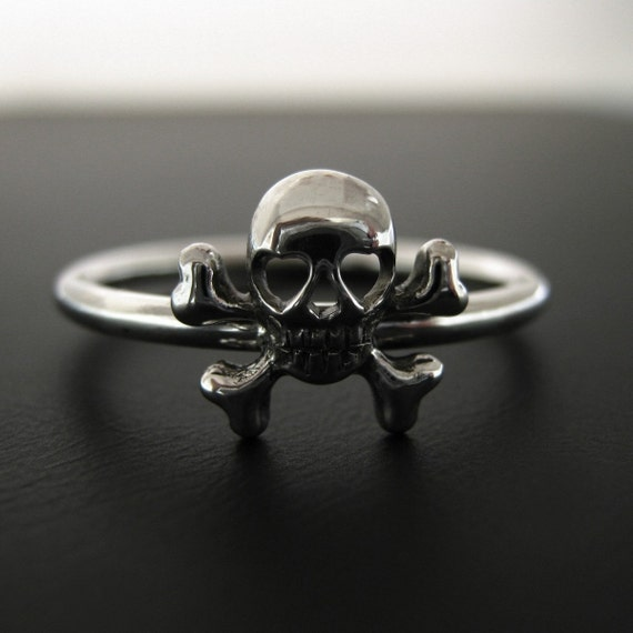 Skull Stacking Ring - Size 7