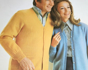 Knitting Patterns The Classic Look Beehive Patons 136 Sweaters Cardigans Men Women Vintage Paper Original NOT a PDF
