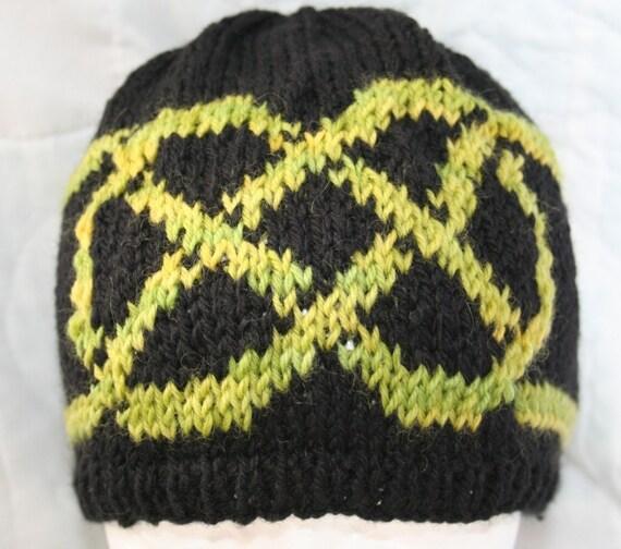 Knit Celtic Knot Hat Pattern : Hat Knitting Pattern Celtic Knot Beanie Knitting Pattern St.