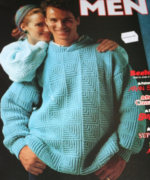 Sweater Knitting Patterns Men Vintage Cardigan by elanknits