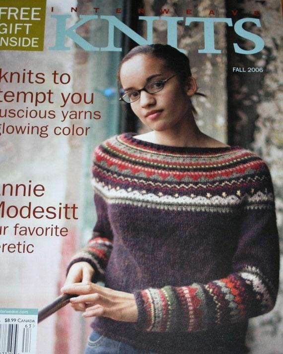 Interweave Knits Knitting Patterns Fall 2006