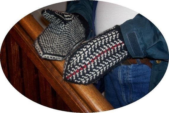 Knitting Pattern Mittens Fair Isle Men Women One Size elanknits ...