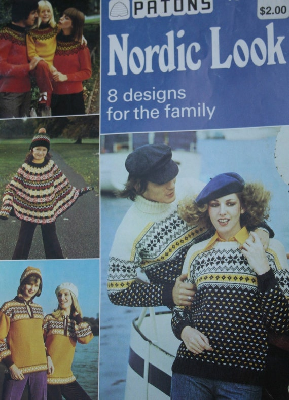 Sweater Knitting Patterns Patons Nordic Look 196