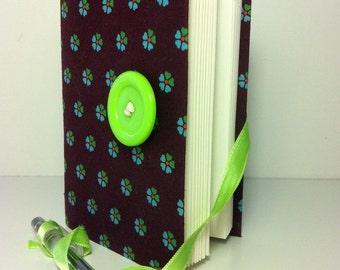 Personal Journal, journal diary, journal notebook, hand bound, lined paper, handmade books, writing journal, Brown green, travel journal