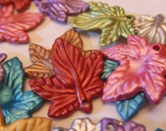 SALE! metallic leaves - 50