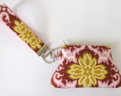 Lotus Temple Garland Key Fob and Curvy Coin Pouch Wristlet Set