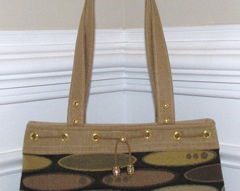 Camel Tan and Navy Blue Double Strap Shoulderbag