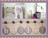 Baby Kids Nursery Hanging Wall Letters to match PBK's Dahlia Bedding