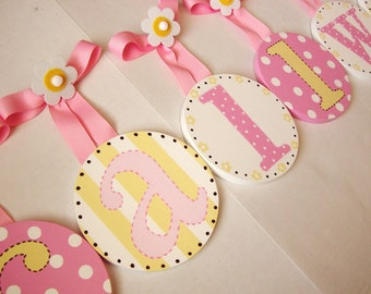 Boutique Baby Childrens Round HANGING WALL LETTERS