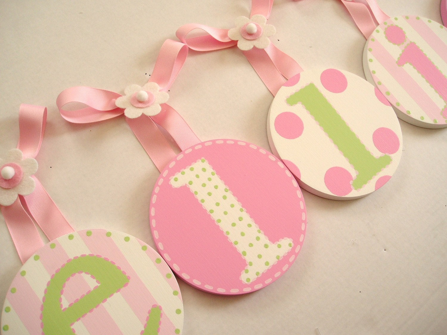 Round Kids Baby Nursery HANGING WALL LETTERS By