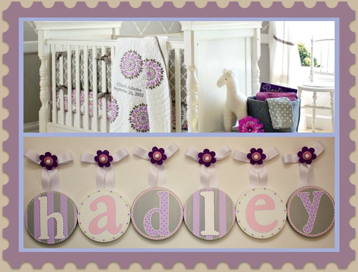 Baby Kids Nursery Hanging Wall Letters To By Candicenkatiesart