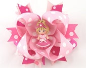 Boutique Pretty in Pink Girl Hair Bow