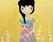 Owl Kids Nursery Girl Print