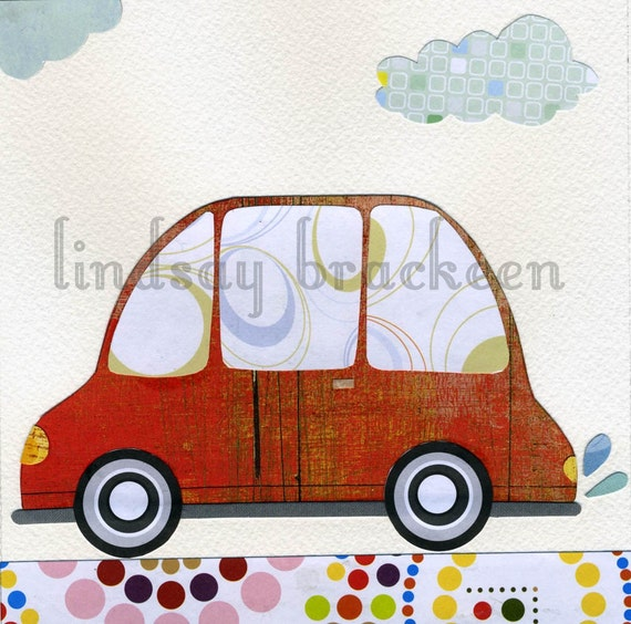 Car Automobile Transportation Travel Nursery Art Print
