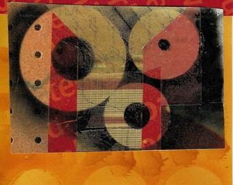 3 Gold Circles   ARTcard