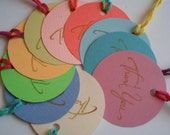 Thank You Colourful Round Tags-Set of 10