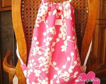 Reversible Drawstring Backpack Sewing Pattern - PDF