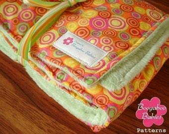 Minky Baby Blanket Sewing Pattern - PDF