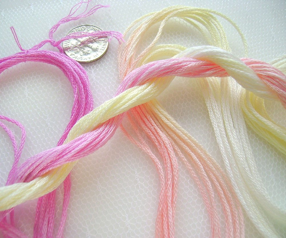 Cotton Embroidery Floss Hand Dyed PEACE