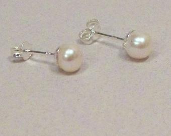 Pearl Post Earrings