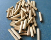 Tiny Bamboo Bugle Beads tubes lot of 48 NATURAL ELEMENTS
