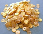 Vintage Sequins Strand TOASTED ALMOND 6mm full loose strand couture lot