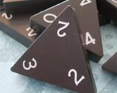Vintage Tri Dominos lot of 12 black plastic