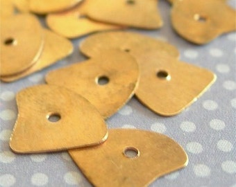 Metal Sequins COPPER Organic Shape 12mm x 10mm lot of 20 Hearts