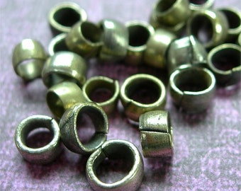 Kuchi Beads Metal Loop Spacers lots of 24 wide ETHNIC ELEMENTS