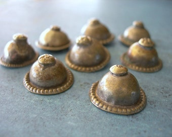 Turkoman Buttons Vintage Silver lot of six 6 Kuchi Belly Dance style HALF DOZEN