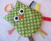 OWL Crinkle Crackle Sensory Owl Toy