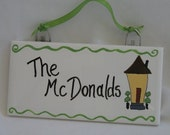 Personalized Family Name House Tile