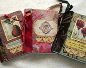 Collaged OOAK Mini Comp Journals Set of three