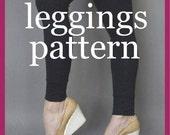downloadable sewing pattern basic leggings