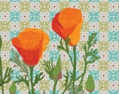 California Poppy Diptych  art print