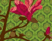 Magenta Blossoms with Tiny Tree Frog  art print