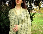Light Green Lace Scarf - Celery